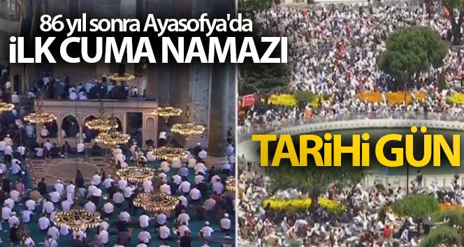 86 yıl sonra Ayasofya'da ilk cuma namazı