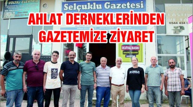 AHLAT DERNEKLERİNDEN GAZETEMİZE ZİYARET