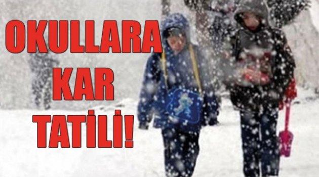 Ahlat'ta okullar tatil edildi
