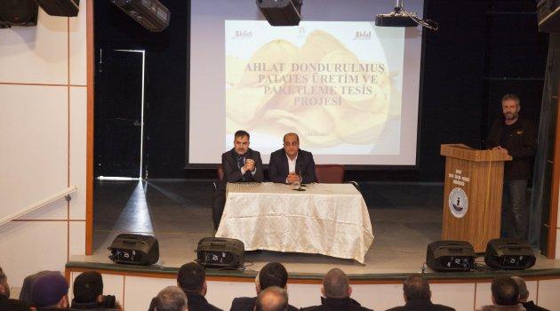Ahlat'ta proje tanıtım toplantısı