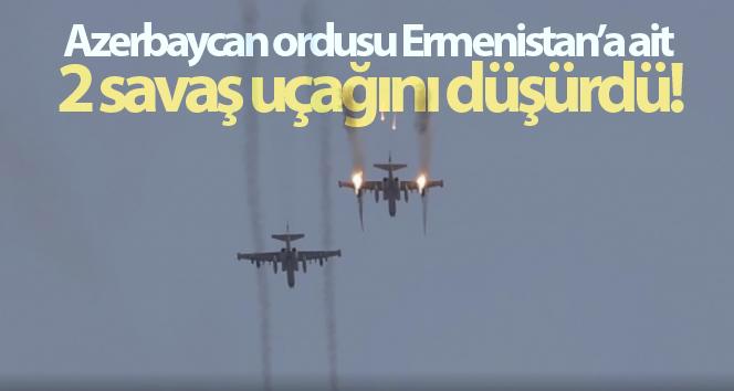 Azerbaycan ordusu, Ermenistan'a ait 2 savaş uçağını düşürdü.