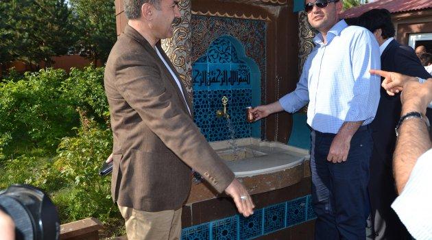 """Ahlat'ta """"15 Temmuz Şehitler Çeşmesi"""" açıldı"""