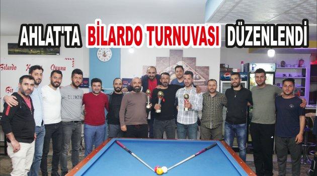 Ahlat'ta Bilardo Turnuvası düzenlendi