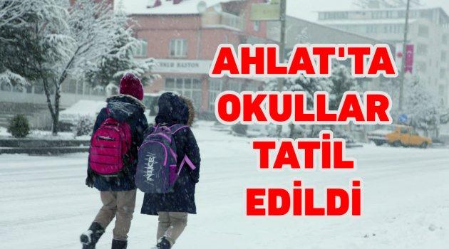 Ahlat'ta eğitime kar engeli