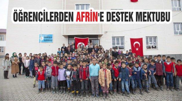 ÖĞRENCİLERDEN AFRİN'E DESTEK MEKTUBU