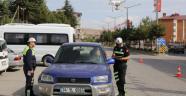 Ahlat'ta drone ile trafik uygulaması