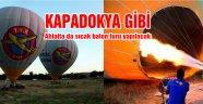 Ahlat'ta balon uçuşu sevinci