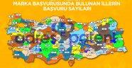 Türkiye'nin şehir şehir marka başvuru sayısı açıklandı