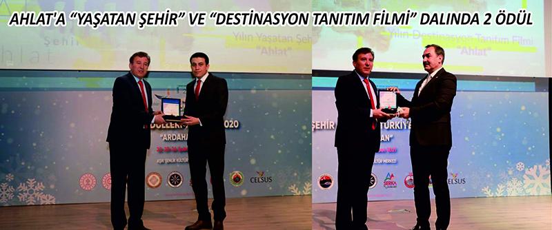 """Ahlat'a """"Yaşatan Şehir"""" ve """"Destinasyon Tanıtım Filmi"""" dalında 2 ödül"""