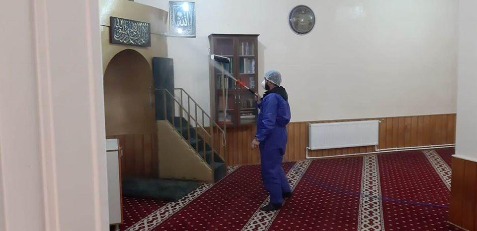 Ahlat'ta dezenfekte çalışmaları aralıksız sürüyor