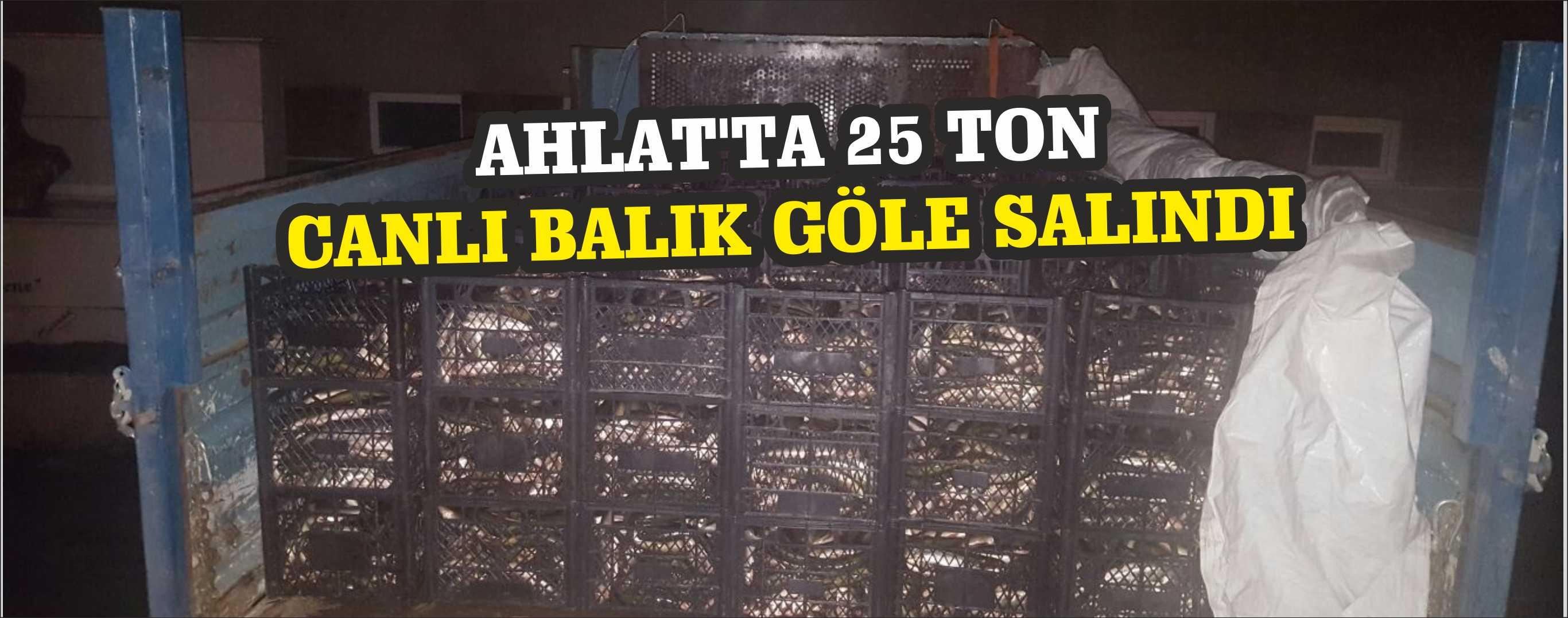 Ahlat'ta 25 Ton  Canlı Balık Göle Salındı